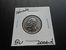 2006 D, Nevada State Quarter  BU from mint roll (1 coin) on 2 X 2