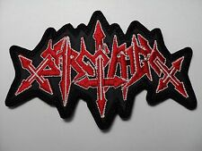 sarcofago shaped  logo  EMBROIDERED PATCH