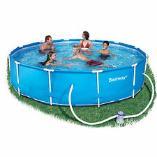 """Bestway Steel Pro Frame 10ft x 30"""" Swimming Pool with Filter Pump BW56059"""