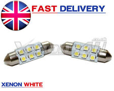 2x 36mm Number License Plate SMD LED Xenon White 6000K Festoon Light Bulbs C5W