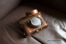 PU Leather Full Camera Case bag cover for FUJI X100T X100S X100 Brown + strap