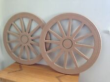 2 X 590mm 12 Spoke Tapered Candy Cart Wheels