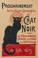 Chat Noir Poster Fine Art Lithograph Hand Pulled Theophile Alexandre Steinlen S2