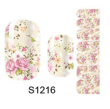 Beauty Flower 3D Nail Art Sticker Full Wraps Decals Manicure Decoration S1216