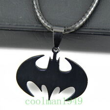 cool Batman black Stainless Steel bat Pendant Necklace ST161