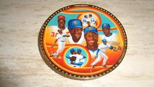 1991 Baseball Mini Plate - Ken Griffey Sr. & Jr. - Seattle Mariners / Cincy Reds