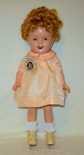 """Antique ~ All Original ~ 13"""" Shirley Temple Doll , by Ideal Toy Co, circa 1930's"""
