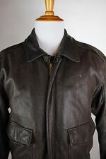 Wilsons Leather Brown Bomber Coat Leather Mens Size Medium