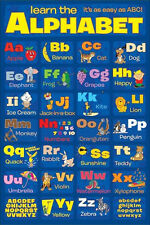 Alphabet LAMINATED POSTER Learn My ABC 61x91cm School Educational Wall Chart NEW