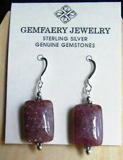 Sterling Silver Natural MUSCOVITE Gemstone Dangle Earrings #14...Handmade USA