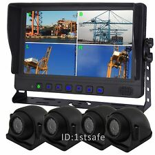 "VEISE 9"" QUAD/SPLIT LCD BACKUP REAR VIEW REVERSE SIDE VIEW CAMERA SYSTEM"