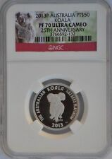 2013 P Australia 25th Anniversary $50  1/2 oz Platinum Koala With NGC PF70