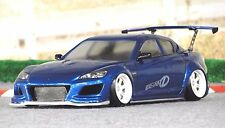 D-Like 1/10 RC MAZDA RX-8 SPIRIT 195mm Clear Body Drift Hashiriya Pandora Yokomo