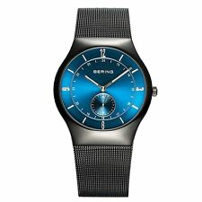 BERING Time 11940-227 Men's Blue Dial Sapphire Crystal Mesh Band Watch