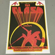 CLASH - CONCERT POSTER HOLLYWOOD PALLADIUM FRIDAY 18th JUNE (A3 SIZE)