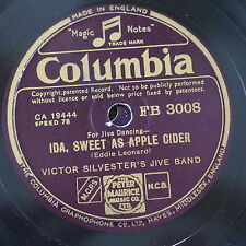 78rpm VICTOR SYLVESTER`S JIVE BAND ida sweet as apple cider / how am i to know