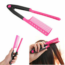 Fashion V Type Hair Straightener Comb DIY Salon Hairdressing Styling Tool Kit