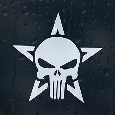 Military Star Army Punisher Skull Car Decal Vinyl Sticker For Bumper Or Window