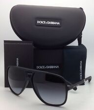 New DOLCE & GABBANA Sunglasses DG 6081 2616/8G 60-11 Black w/ Grey gradient lens