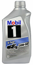 MOBIL 1 V-TWIN 20W-50 FULLY SYNTHETIC Oil for Motorcycles - 6 Quart Case