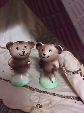 Vintage Enesco Bear Salt & Pepper Shakers 2 Pieces EUC