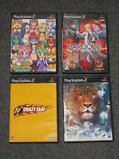 Lot 4 (crazy taxi/baroque/narnia/idol janshi r) JAPAN IMPORT Playstation 2 games