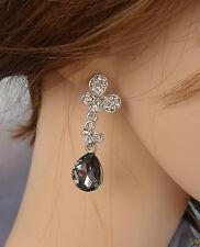 ELEGANTE Orecchini argento Nero  farfalla strass ,cristalli ,donna,idea regalo