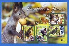 Rumänien Romania 2014 Fauna Früchte Bär Vogel Wein Schwein Block 602 MNH A: 300