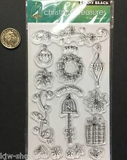 CHRISTMAS TREASURES 'T for Transparent' Penny Black Clear Stamps Rubber Stamping