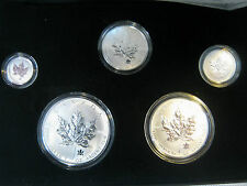 2004 Royal Canadian Mint Silver Maple Leaf Privy Mark Set