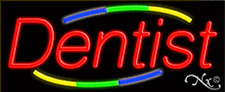 "BRAND NEW ""DENTIST"" 32x13 REAL NEON SIGN w/CUSTOM OPTIONS 10780"