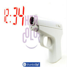 Secret Agent Vibrating Alarm Clock Projection Gun By Thumbs Up !