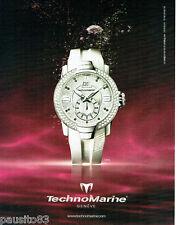 PUBLICITE ADVERTISING  016  2009  Technomarine montre Uf6