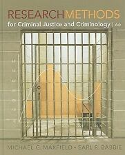 Research Methods For Criminal Justice And Criminology by Maxfield