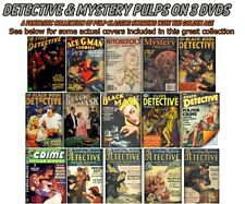 Detective & Mystery Pulp Magazines  Collection on 3 DVDs - FREE Shipping. PULPS