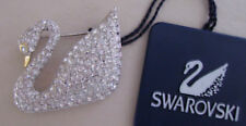 Signed Swarovski Swan Brooch Pin