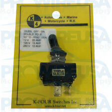 13-200 Triple Sealed ON-OFF Toggle Switch 20 Amp Double Pole Switch Panel