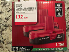BRAND NEW (2) PACK Craftsman 19.2 V Volt C3 Compact Lithium Ion Battery PP2011!!