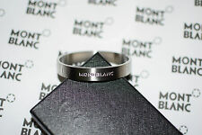 NEW MontBlanc Stainless Steel Silver with rubber Men Bracelet, NO tags,box