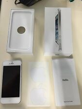 Apple iPhone 5 MD657LL/A A1429 16GB WiFi + 4G LTE White/Silver Sprint + Box