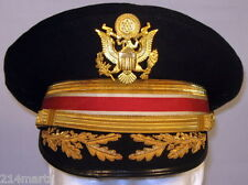 US Army Field Officer Engineers Dress Blues Uniform Hat Cap 6 7/8  55 Bullion