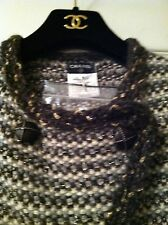 CHANEL NEW TAGS Most Wanted  07A MOHAIR TWEED Multicolor Gold JACKET FR36