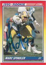 MARC SPINDLER Autographed Signed 1990 Score card Pitt Pittsburgh Panthers COA