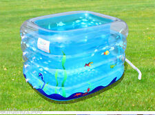 Baby Kids Inflatable Swimming Bath Pool with Foot Air Pump+ Pit Balls+ Buoy Ect.