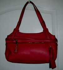 ETIENNE AIGNER PURSE GENUINE LEATHER TOTE SHOULDER PURSE RED NEW!!