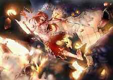 Poster A3 Fairy Tail Erza Scarlet Monsters 01