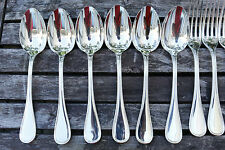 SET 6 Christofle ALBI Silver-plate Table Dinner SPOONS  FRANCE VGC