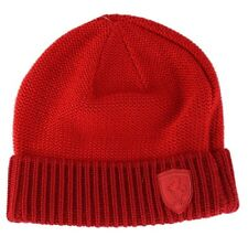 Puma team Ferrari premium Formula 1 mens red lifestyle knitted beanie hat OSFA