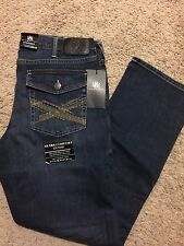 NWT ROCK & REPUBLIC STRAIGHT FIT DIRTY DEEDS JEANS BLUE WASH 34X30 MSRP $88