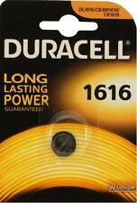 5 PILE BOTTONE DURACELL BATTERIA CR1616 DL1616 ERC1616 DI LITIO 3V LITHIUM